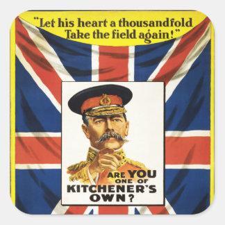 ¿Es usted uno los propios de Kitchener? Pegatina Cuadrada