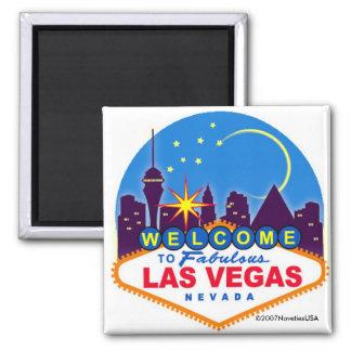 ¡Es Vegas, bebé! Imán Cuadrado