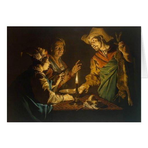 Esau y Jacob de Matías Stom Felicitación