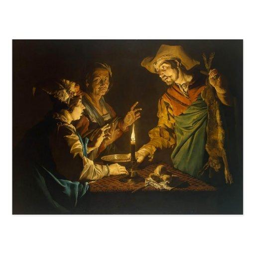 Esau y Jacob de Matías Stom Tarjeta Postal