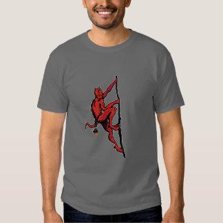 Escalador del demonio camisetas