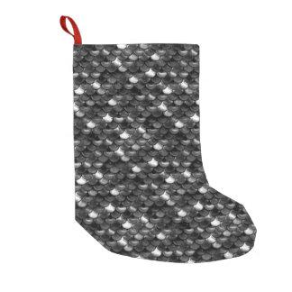 Escalas blancos y negros de Falln Calcetín De Navidad Pequeño