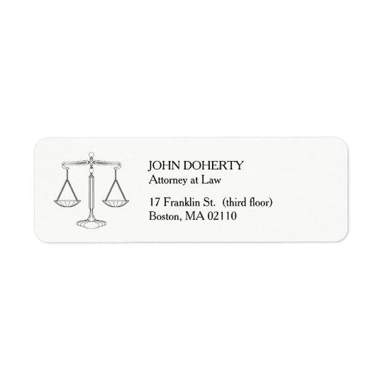 Escalas clásicas de la ley de la justicia el | etiquetas de remite