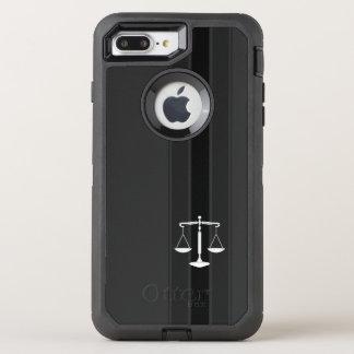 Escalas con clase de la asesoría jurídica de la funda OtterBox defender para iPhone 8 plus/7 plus