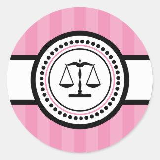 Escalas de la etiqueta de las rayas de la justicia