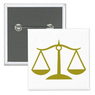 Escalas de la justicia - oro chapa cuadrada 5 cm