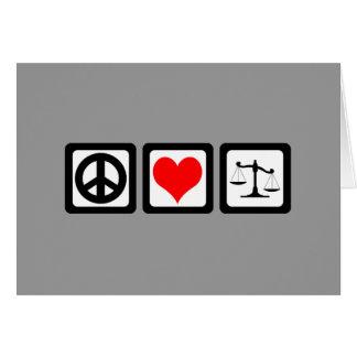 Escalas de la justicia tarjeta