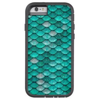 Escalas de la sirena de la aguamarina del verde funda tough xtreme iPhone 6