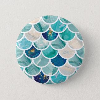 Escalas de pescados burbujeantes de la sirena del chapa redonda de 5 cm