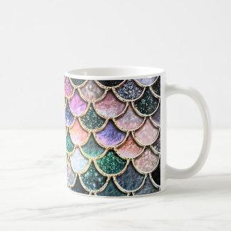Escalas de plata de lujo de la sirena del brillo taza de café