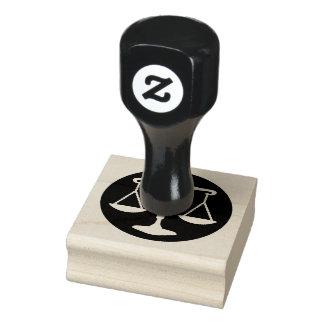Escalas del abogado del símbolo el | de la sello de caucho