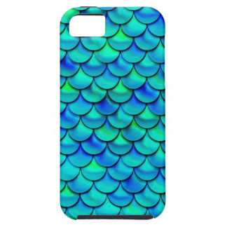Escalas del azul de la aguamarina de Falln Funda Para iPhone SE/5/5s