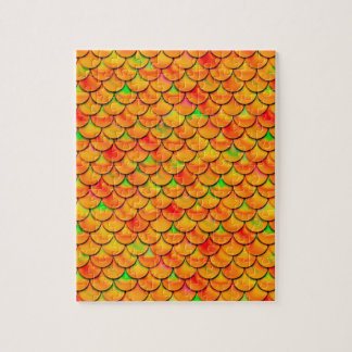 Escalas del naranja y del verde de Falln Puzzle