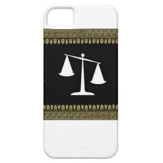 escalas enmarcadas de la justicia funda para iPhone SE/5/5s