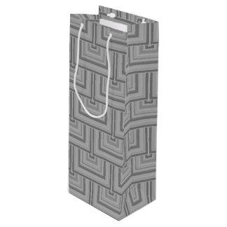 Escalas grises del cuadrado bolsa para vino
