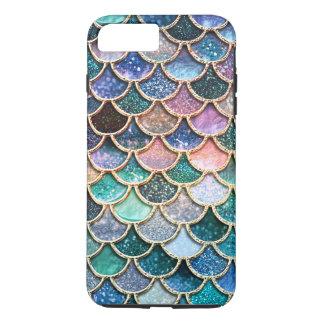 Escalas multicoloras de lujo de la sirena del funda para iPhone 8 plus/7 plus