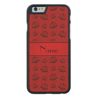 Escalas rojas conocidas personalizadas de la funda de iPhone 6 carved® de arce