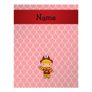 Escalas rojas personalizadas del dragón del folleto 21,6 x 28 cm