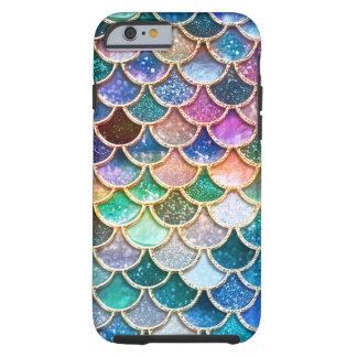 Escalas summerly multicoloras de la sirena del funda resistente iPhone 6