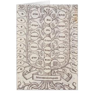 Escalera celestial tarjeta de felicitación