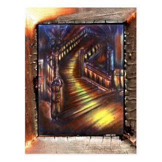 Escalera de la luz postal