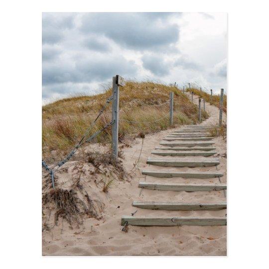 Escalera de las dunas postal