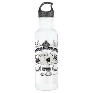 Escalera real botella de agua