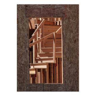 Escaleras de la construcción tarjetas de visita grandes