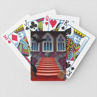 Escaleras y bruja góticas 6 baraja de cartas