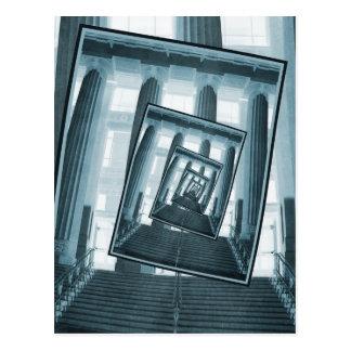 Escaleras y pilares postal