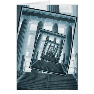 Escaleras y pilares tarjeta de felicitación