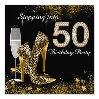 Escalonamiento en fiesta de cumpleaños 50 invitación 13,3 cm x 13,3cm