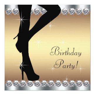 Escalonamiento en fiesta de cumpleaños invitación 13,3 cm x 13,3cm