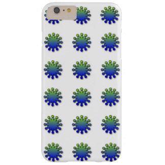 Escamas de la diversión del verde azul funda de iPhone 6 plus barely there