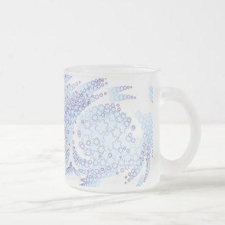 Escamas escarchadas taza de café esmerilada