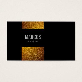 Escamas/negro del oro tarjeta de visita