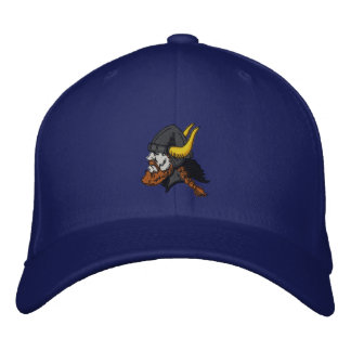 Escandinavo Viking en casco Gorra Bordada