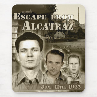 Escape 1962 de Alcatraz Alfombrilla De Ratón