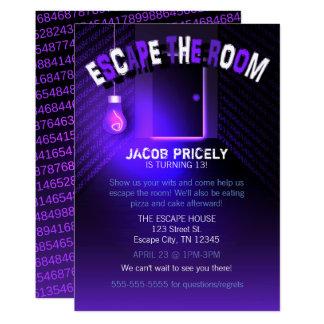 Escape ligero negro la invitación del sitio