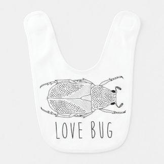 Escarabajo del insecto del amor baberos para bebé
