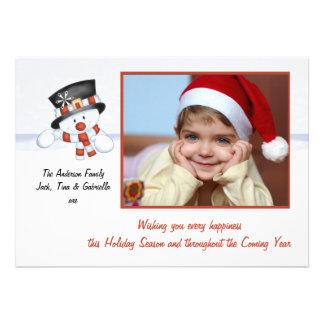 Escarchado el muñeco de nieve - tarjeta del día de