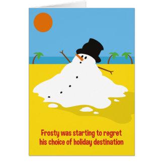 Escarchado en tarjeta de Navidad del día de fiesta