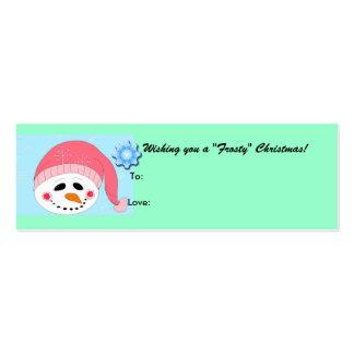 Escarchado - gifttag tarjetas de visita mini