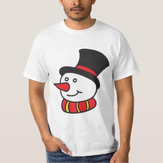 Escarchado la camiseta del muñeco de nieve