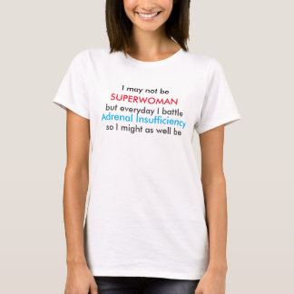 escasez suprarrenal del superwoman camiseta