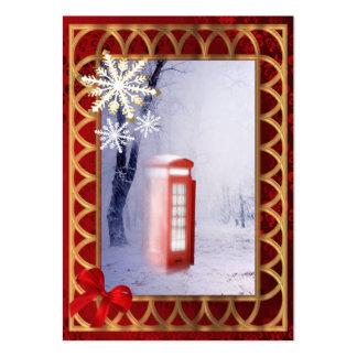 Escena británica de la nieve del paisaje del invie plantillas de tarjetas personales