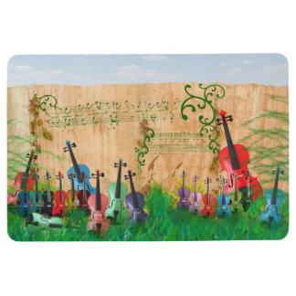 Escena colorida atada del jardín del instrumento alfombra