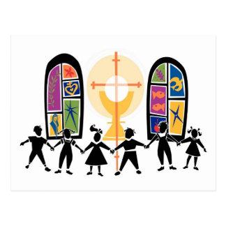 Escena cristiana de la juventud postal