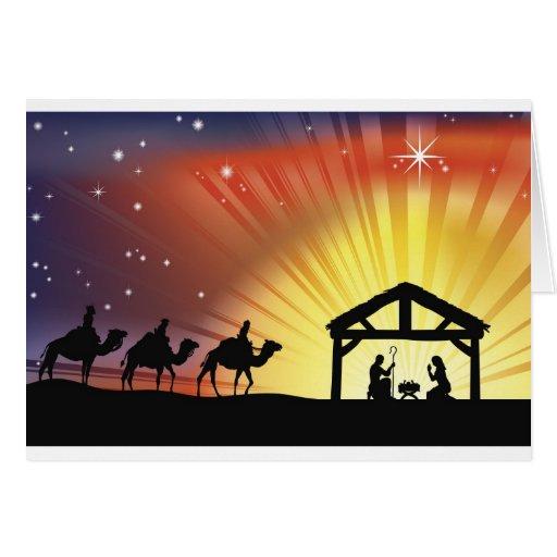 Escena cristiana de la natividad del navidad - Felicitaciones de navidad cristianas ...