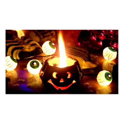 Escena de Halloween Tarjeta De Visita